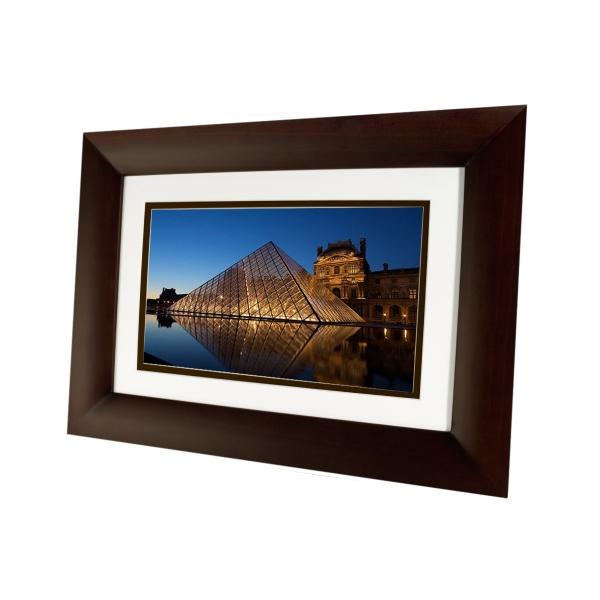 "10.1"" Digital Picture Frame, Dark Espresso Wood"