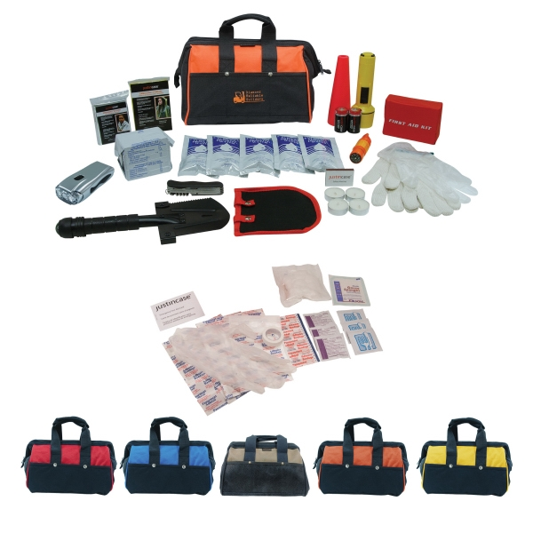 Premium Survival Kit In A 600d Polyester Or Pvc Suede Bag Photo