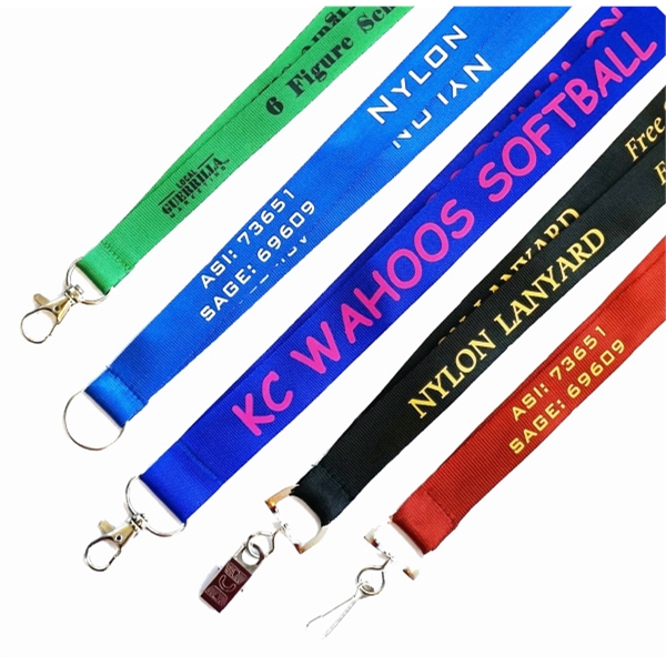 5 Day Rush Nylon Lanyard