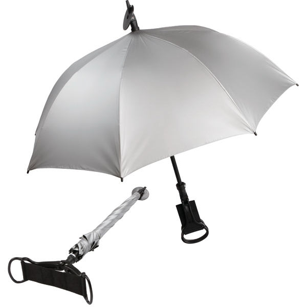 Spectator - Relief Umbrella, Walking Stick And Seat Cane In One Photo