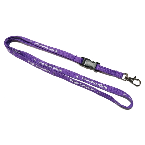 Tube Lanyards with detacbale Buckle