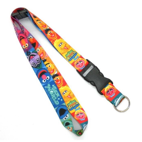 Detachable Buckle Full Color Lanyard