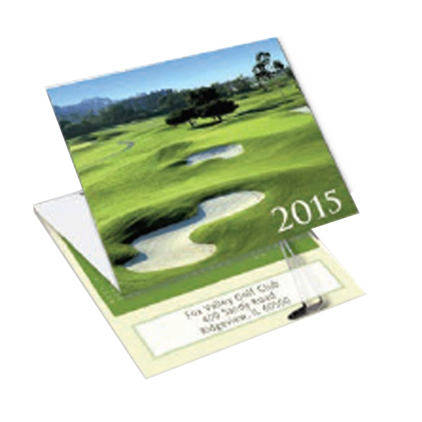 Golf - Tri-fold Calendar With Stock Design Photo