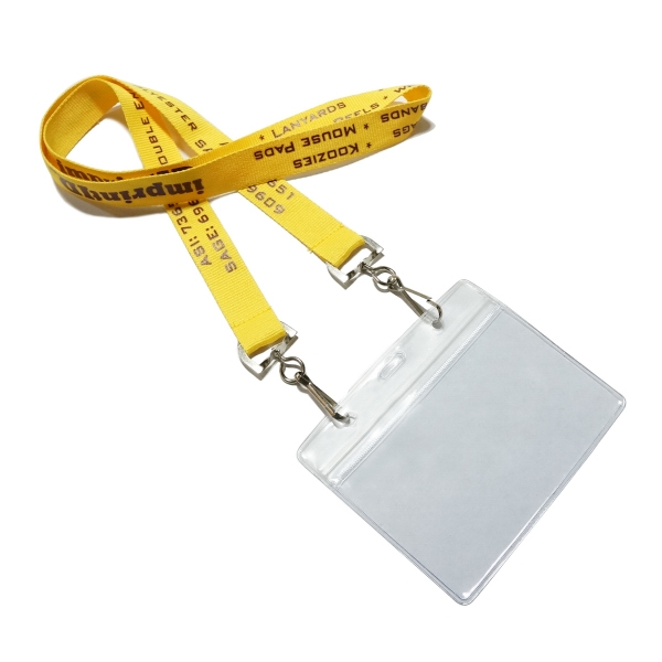Double Ended Polyester with Badge Holder