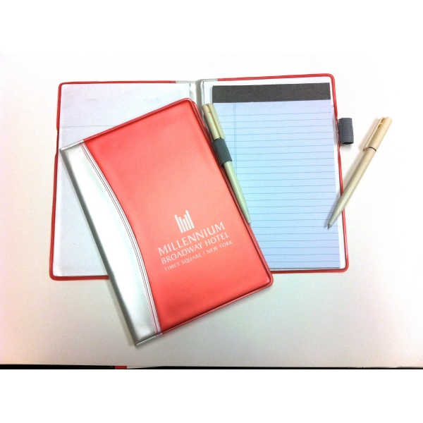 Color Tech - Junior Notebook And Pen With Rigid Vinyl Cover. Close-out Photo