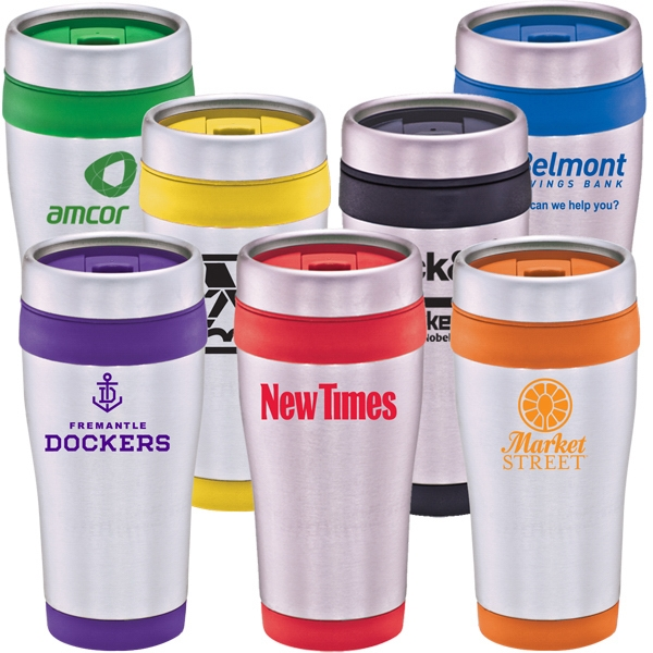Gardena - Mug 16 Oz. Stainless And Plastic Travel Tumbler With Thumb Slide Lid Photo