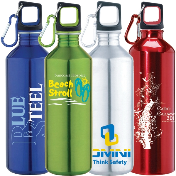 25 Oz 18/8 Stainless Steel Single Wall Water Bottle With Screw On Cap Photo