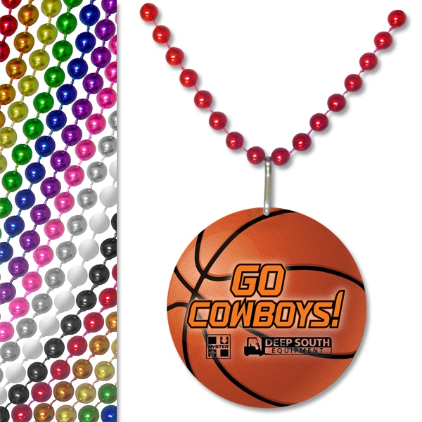 Baseball - Sports Pendant Bead Necklace Photo