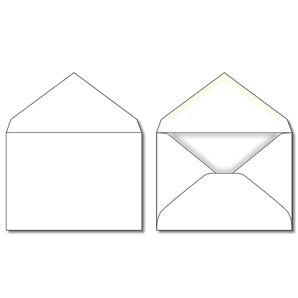 "5.125"" X 3.625"" - Envelope - Plain White Photo"