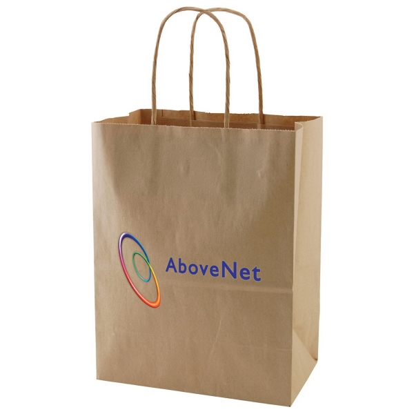 "Enviro Sacks (tm) - 8"" X 10.5"" - Recycled, Natural Kraft Paper Shopping Bag Photo"