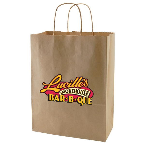 "Enviro Sacks (tm) - 10"" X 13"" - Recycled, Natural Kraft Paper Shopping Bag Photo"