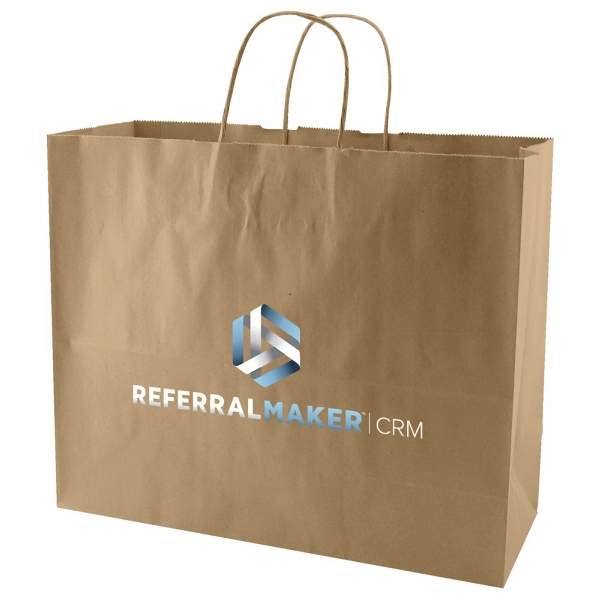 "Enviro Sacks (tm) - 16"" X 13"" - Recycled, Natural Kraft Paper Shopping Bag Photo"