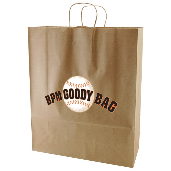 "Enviro Sacks (tm) - 16"" X 19.25"" - Recycled, Natural Kraft Paper Shopping Bag Photo"