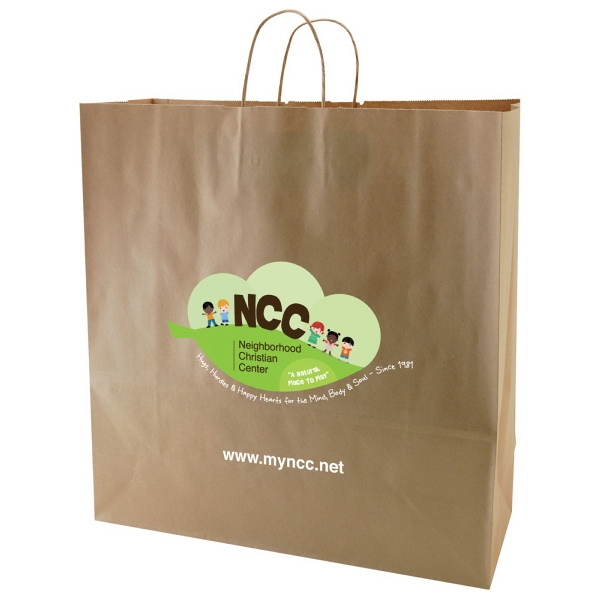 "Enviro Sacks (tm) - 18"" X 18.75"" - Recycled, Natural Kraft Paper Shopping Bag Photo"