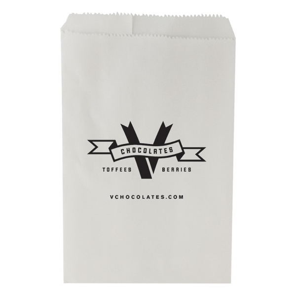 "6"" X 9.25"" - White Merchandise Bag Photo"