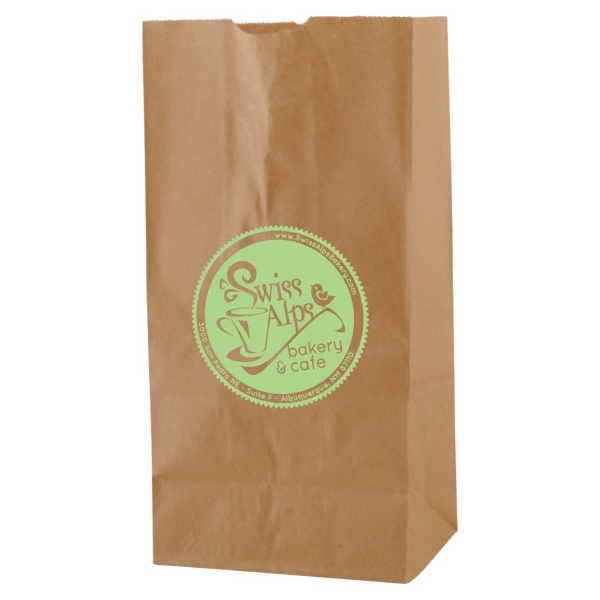 "6.125"" X 12.375"" - Natural Color Number Four Sos Paper Bag Photo"