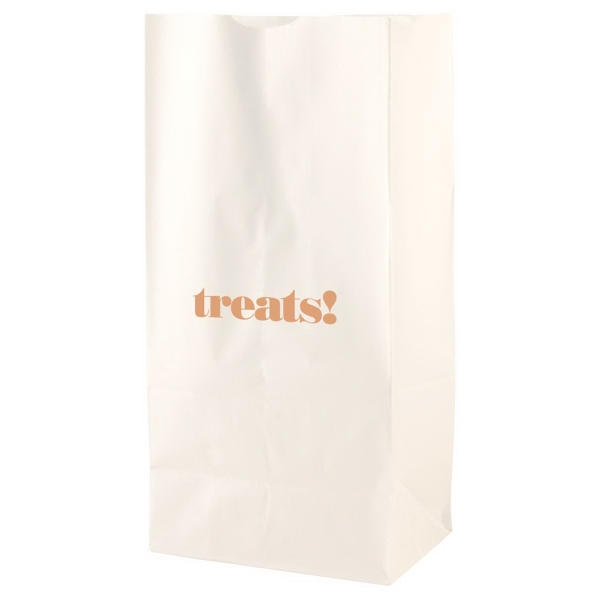 "7"" X 13.75"" - White Color Sos Paper Bag Photo"