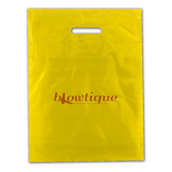 "12"" X 15"" - Fold Over Die Cut Bag, 2.5 Mil Low Density Film Photo"