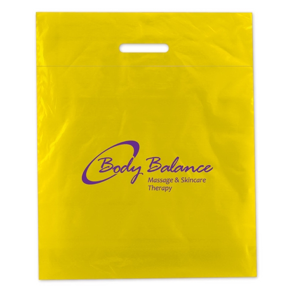 "15"" X 19"" - Fold Over Die Cut Bag, 2.5 Mil Low Density Film Photo"