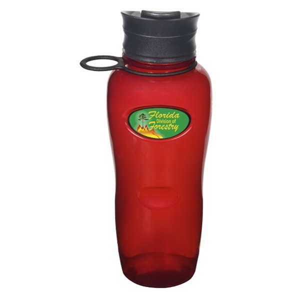 Evolve (tm) N-dome (tm) - Red Biodegradable 26 Oz. Sports Bottle With Screw-on Spill-resistant Flip-top Lid Photo