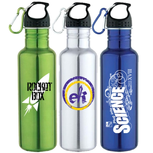 25 Oz 18/8 Stainless Steel Water Bottle With Screw On Cap Photo