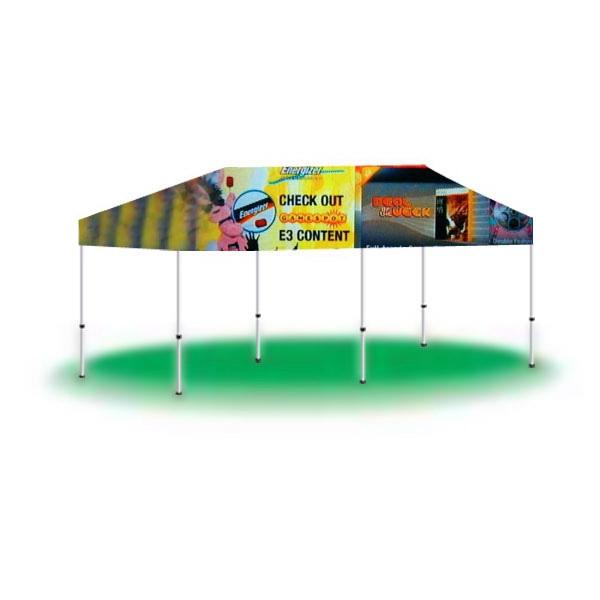 10ftx20ft Imprinted Logo Pop Up Tent-Full Digital - 10ftx20ft Imprinted Logo Pop Up Tent-Full Digital