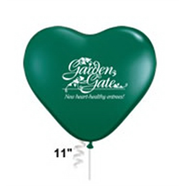 "Qualatex (r) - 11"" Heart Shape Biodegradable Latex Balloon In Standard Colors Photo"