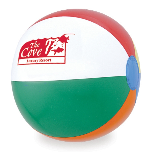 "12"" Assorted Panel Heavy Gauge Vinyl Beach Ball Photo"