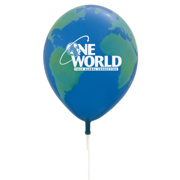 "Qualatex (r) - Latex Balloon With Globe Design, 11"" Photo"