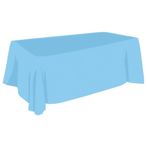 6Ft Polyester Table Cover-Blank Non-fitted - 6Ft Polyester Table Cover-Blank. Non-fitted
