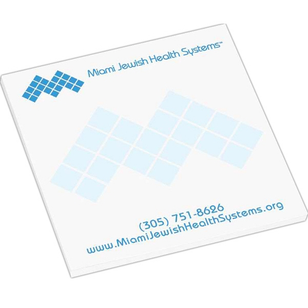 "50 Sheet Count - Super Value 3"" X 3"" Adhesive Notepad Photo"
