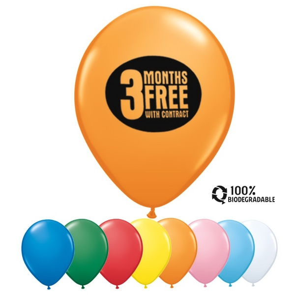 "Qualatex (r) - 16"" Standard Color Round Latex Balloon Photo"