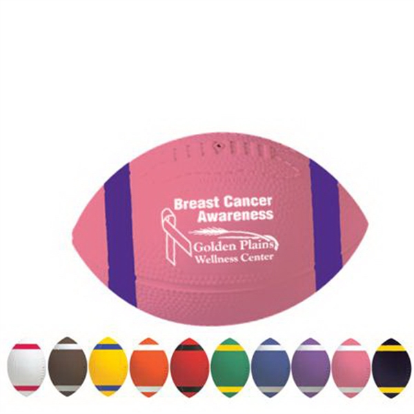 "Admax (tm) - 7"" Vinyl Football With Stripes Photo"