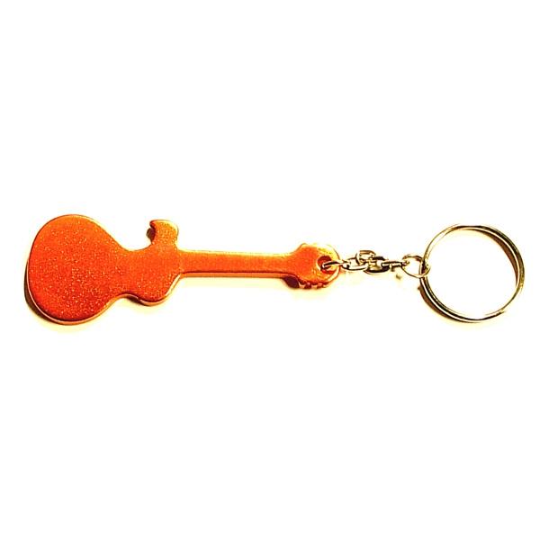 Guitar shape bottle opener keychain