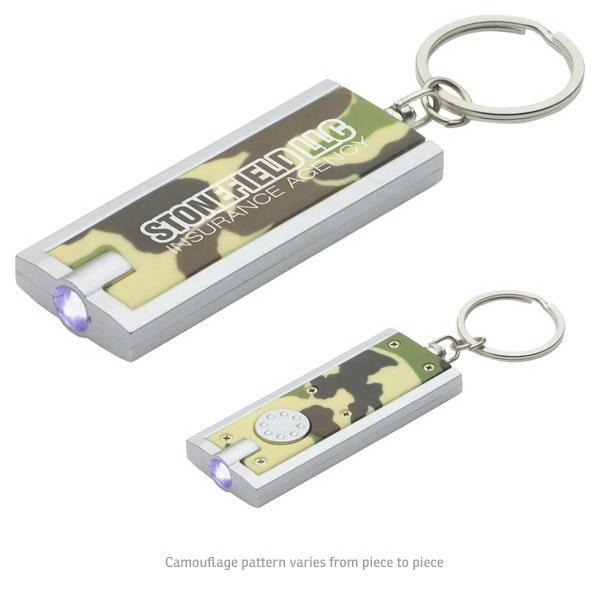 Simple Touch - Plastic Led Key Chain Flashlight In Camouflage Photo