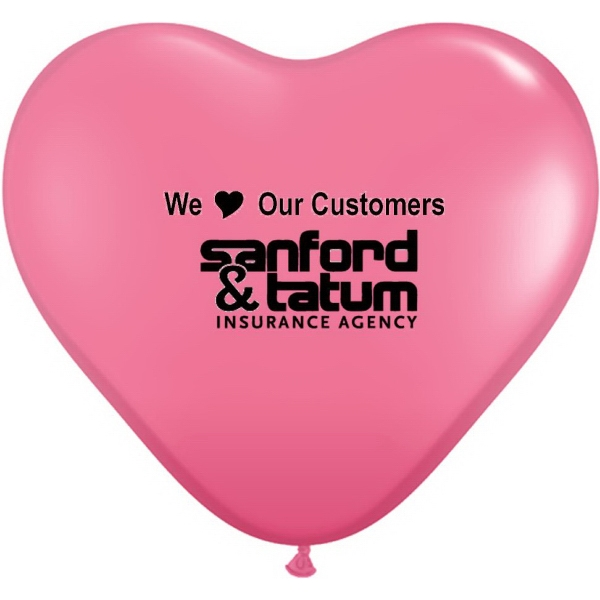 Qualatex (r) - Heart Shape, Biodegradable Latex Giant Balloon With Jewel And Fashion Colors Photo
