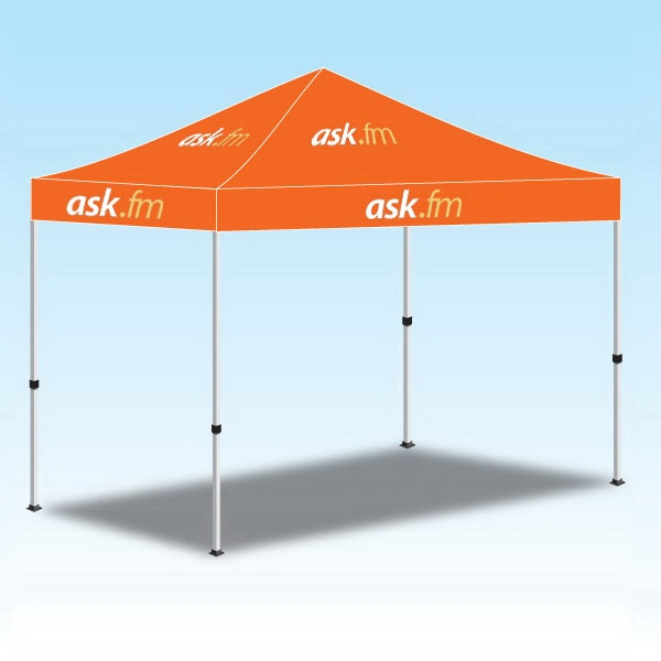 5ftx5ft Popup Canopy with Logo Graphic-2 Color - 5ftx5ft Popup Canopy with Logo Graphic-2 Color