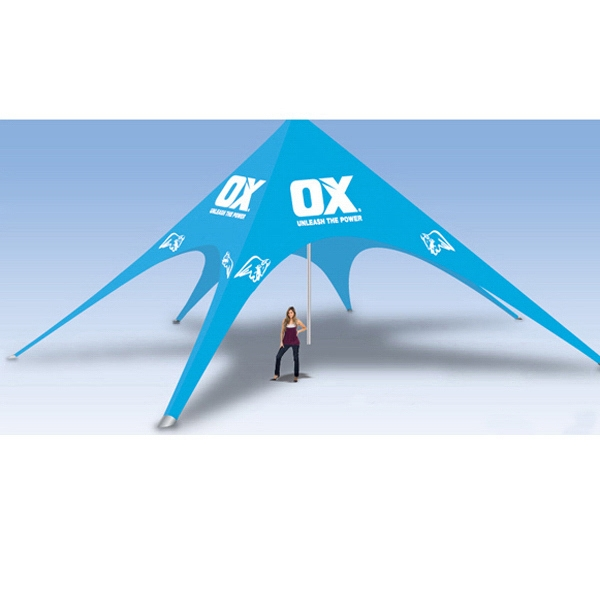 20ftx53ft Star Tent with Full Graphics - 20ftx53ft Star Tent with Full Graphics