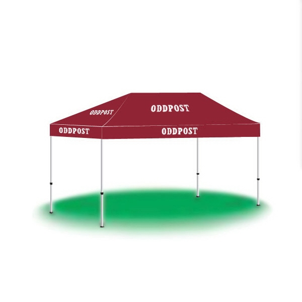 10ftx15ft Custom Made Printed Logo Tent-1 Color - 10ftx15ft Custom Made Printed Logo Tent-1 Color