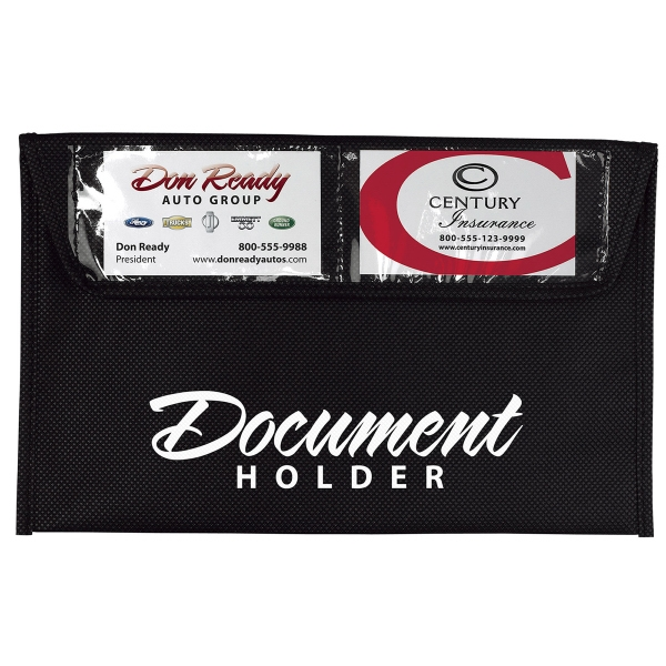 Black Document Holder