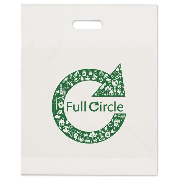 15 x 19 x 3 White Eco Die Cut  Bag