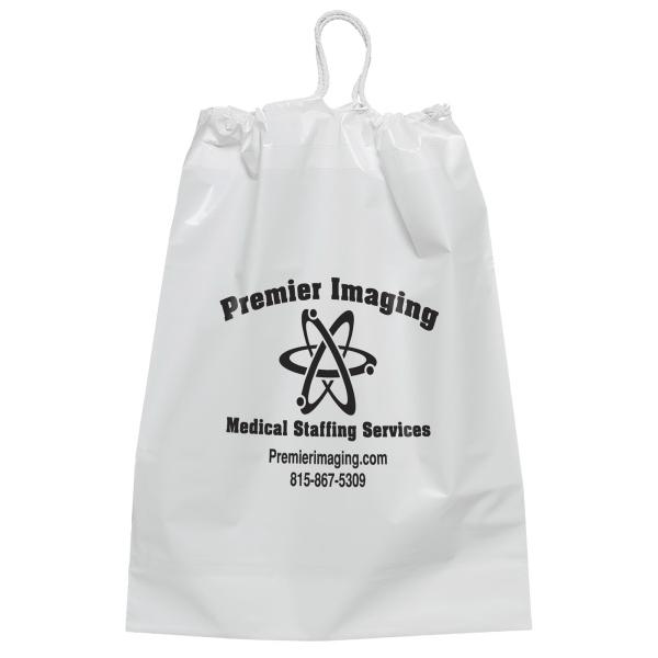 12 x 16 White Cotton Draw String Bag