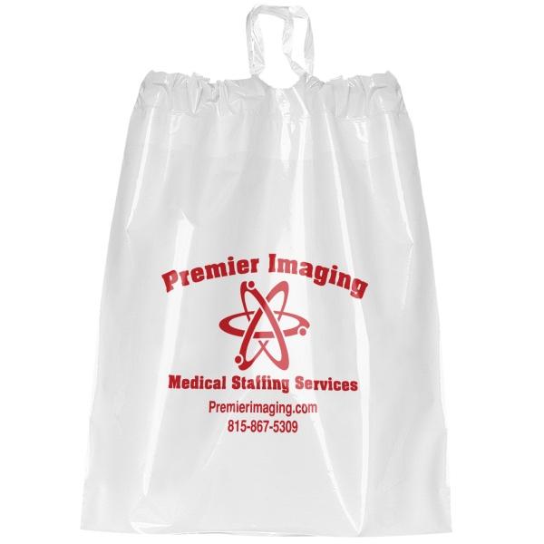 "9 1/2"" Plastic Poly Draw Bag"