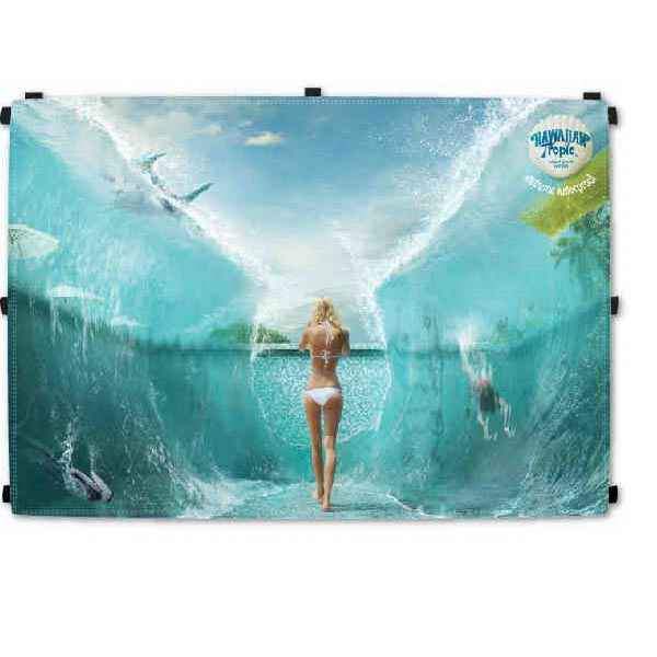 10 Foot Polyester Tent Back Wall with Full Graphics - 10 Foot Tent Back Wall with Full Graphics.