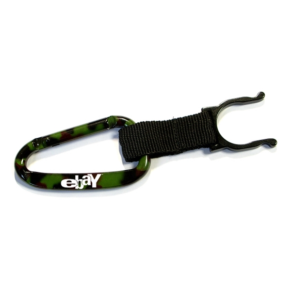 Camouflage Carabiner with Water Bottle Holder