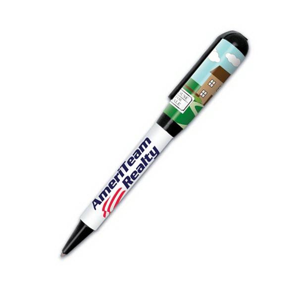 USA Real Estate (TM) Twist Pen - Twist action retractable ballpoint pen, USA made.