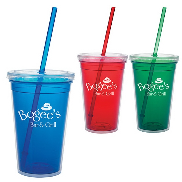 Double Wall Translucent Tumbler -18 oz