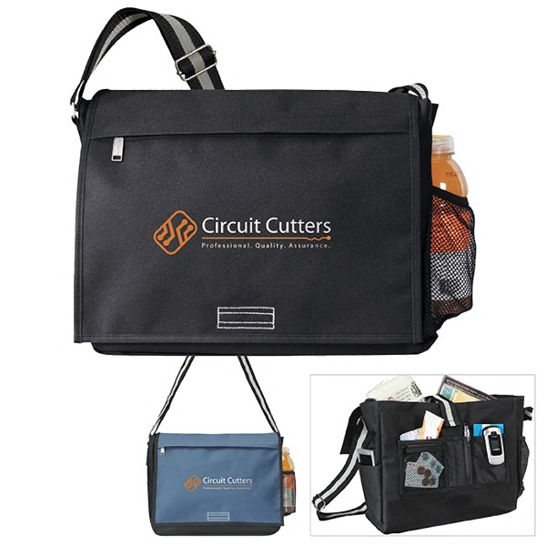 Intern Messenger - Intern Messenger. Hook-and-loop closure on main compartment.  Front zippered pocket and organizer panel.  Boarded bottom.