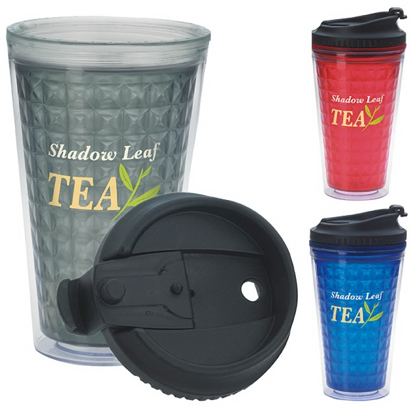 Double Wall Acrylic Tumbler with Black Lid -18 oz
