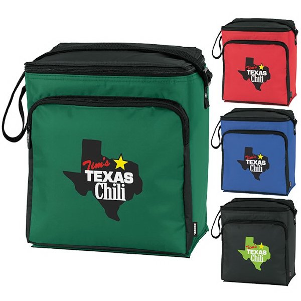 """KOOZIE (R) Fiesta 12-Pack Kooler - Fiesta 12-Pack Kooler. Front zipper pocket.  Heat-sealed main compartment holds 12 cans.  1/4"""" foam for better insulation."""